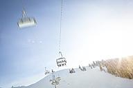 Austria, Salzburg State, Region Hochkoenig in winter, Ski Amade, ski lift - DISF001416