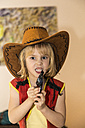 Little girl dressed up as cowboy - JFEF000567