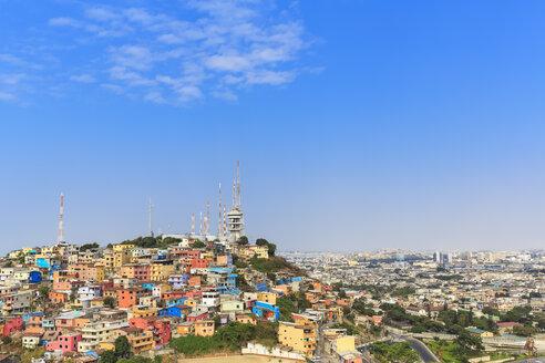 South America, Ecuador, Guayas Province,  Guayaquil, Las Penas, Cerro Santa Ana, City view - FOF007730