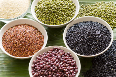 Bowls of different pulses - JUNF000243