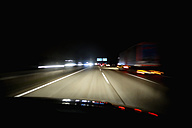 Driving at night on Autobahn - NDF000515
