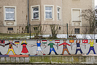 Austria, Linz, mural on a wall of a school - EJW000694