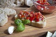 Fresh bruschetta with ingredients - YFF000325