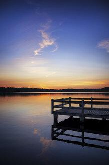 USA, Wisconsin, Rhinelander, sunset - SMAF000309