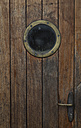 Wooden door with porthole of a ship - ASC000045