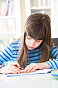 Girl doing homework - LVF002968