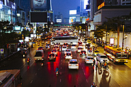 Thailand, Bangkok, traffic jam at night - STD000154