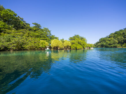 Jamaica, Port Antonio, blue lagoon - AMF003873