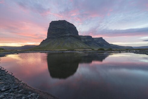 Iceland, view to Lomagnupur at twilight - NHF001477
