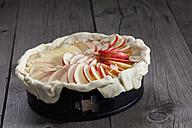 Raw apple pie in cake pan - CSF024780