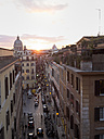 Italy, Rome, Via della Croce with San Carlo al Corso church - LAF001358