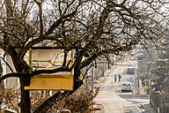 Austria, Linz, tree house in garden - EJW000704