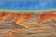 USA, Wyoming, Yellowstone National Park, Grand Prismatic Spring at Midway Geyser Basin - RUEF001549