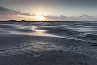 Germany, Bensersiel, coastal landscape at sunset - WIF001574