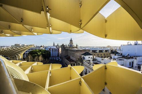 Spain, Andalusia, Sevilla, cityscape with Metropol Parasol - THA001334