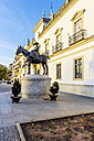 Spain, Andalusia, Sevilla, statue at Plaza de Toros - THAF001327