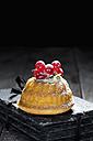Mini Gugelhupf filled with ricotta and cream cheese garnished with red currants - CSF024938