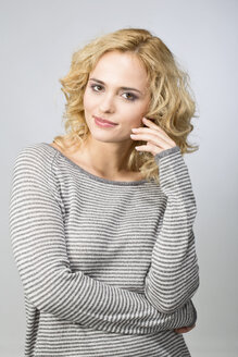 Portrait of smiling blond woman - MAEF009924