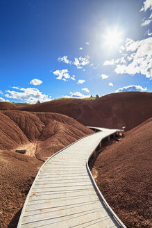 USA, Oregon, boardwalk through John Day Fossil Beds National Monument - FOF007808
