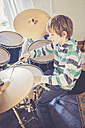 Boy playing drums - SARF001566