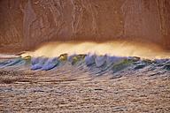 Portugal, Algarve, Sagres, waves at Beliche Beach - MRF001567