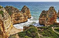 Portugal, Algarve, Lagos, rocky coast and beach - MRF001545