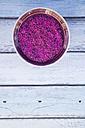 Pink organic basmati rice in bowl - LVF003092