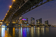 Canada, British Columbia, Vancouver, Granville Street Bridge over False Creek at night - KEBF000012