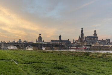 Germany, Dresden, view to old city in the morning - PVCF000355