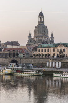 Germany, Dresden, view to Dresden Frauenkirche and Sekundogenitur in the morning - PVCF000359