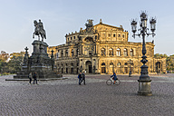 Germany, Dresden, view to Semper Opera House at Theatre Square - PVCF000365