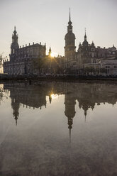 Germany, Dresden, view to court church and palace at backlight - PVCF000371