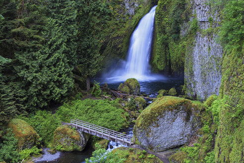 USA, Oregon, Multnomah County, Columbia River Gorge, Wahclella Falls - FOF007874