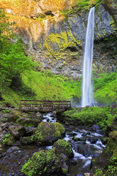 USA, Oregon, Multnomah County, Columbia River Gorge, Elowah Falls - FOF007908