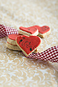 Heart-shaped cookies with stamp motife, ribbon - MYF000954