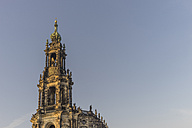 Germany, Dresden, spire of court church at morning sunlight - PVCF000332