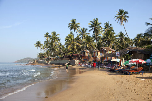India, Goa, Anjuna, view to Anjuna Beach - PCF000107