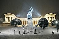 Germany, Munich, Bavaria at Ruhmeshalle in snow - EDF000126