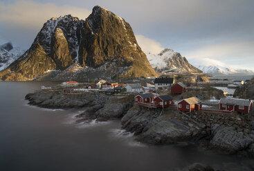 Norway, Lofoten, view to Hamnoy in the morning - MKFF000181