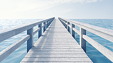 Wooden boardwalk, 3D Rendering - UWF000414