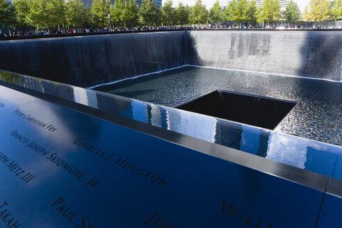 USA, New York, Manhattan, the south pool of the World Trade Center, Nine Eleven National Memorial - PS000681