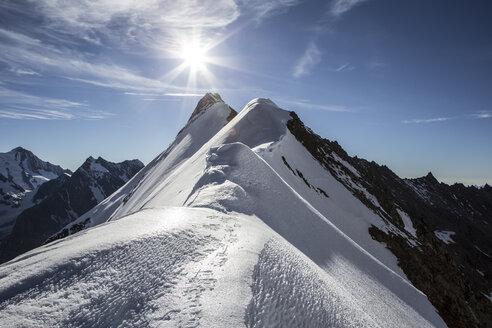 Switzerland, Pennine Alps, Aletschhorn, sunrise - BMF000834