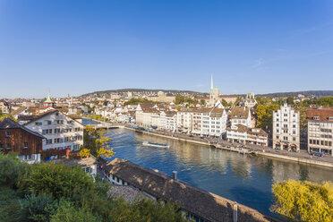 Switzerland, Zurich, Cityview, River Limmat and Limmatquai - WDF003012
