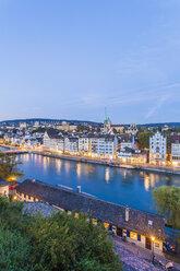 Switzerland, Zurich, Cityview in the evening, Limmat River and Limmatquai - WDF003017