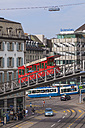 Switzerland, Zurich, Central square with City cable car - WD003032