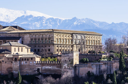 Spain, Andalusia, Granada, View to Alhambra - THAF001353