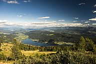 Austria, Carinthia, Lake Ossiach with Woerthersee in background - HHF005218