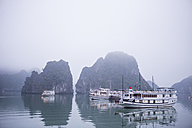 Vietnam, tourboats in Halong Bay - MAD000146