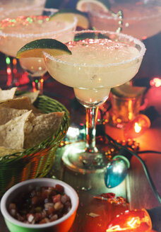 Margarita with salt and nachos, Cinco De Mayo Party - SELF000009