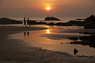 India, Karnataka, sunset at Kudle Beach near Gokarna - PCF000131